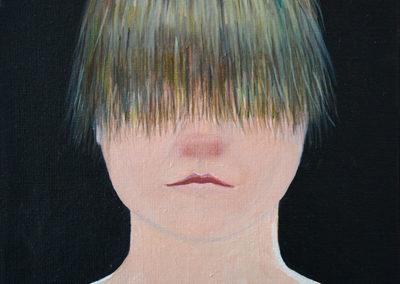 Kasia Prusik-Lutz © Die Nase juckt, die Haare leuchten nicht, Öl/Leinwand, 2016