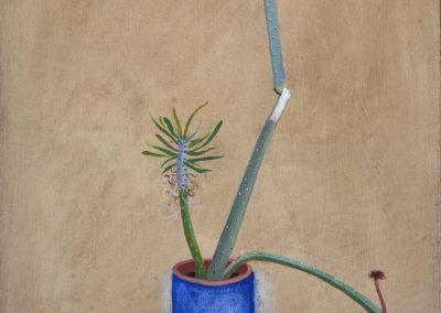 3.Blume mit blauen Topf_50x85cm_OelLeinwand_KPrusikLutz